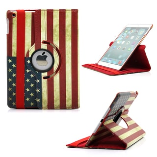 Gearonic 360 Rotating PU Leather Leopard Case Cover for Apple iPad 5 Air