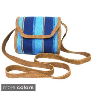 Handmade Mini Handbag and Leather trim (Guatemala)