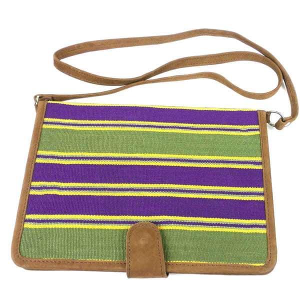 Handmade iPad Carry Case with Leather Trim (Guatemala)