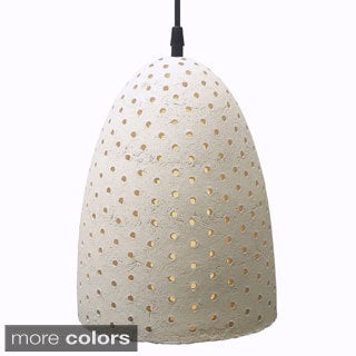 1-light Pixel Bell Pendant Light , Handmade in Mexico