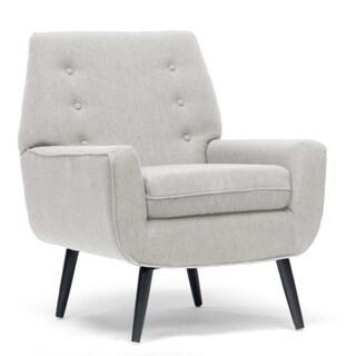Levison Beige Linen Modern Accent Chair