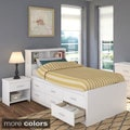 Sonax 3-piece Twin-size Captain's Storage Bed Set with Bookcase Headboard and Nightstand