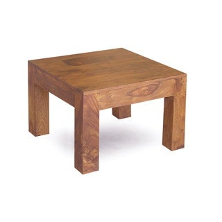 Handcrafted cube small coffee table india overstock for Top rated coffee tables