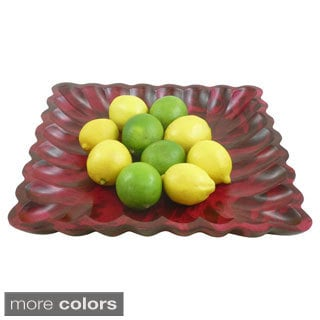 Scalloped Mango Wood Plate (Thailand)