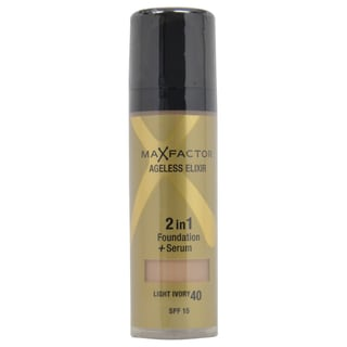 Max Factor Ageless Elixir 2-in-1 #40 Light Ivory Foundation + Serum