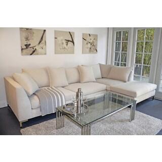 Decenni Custom Furniture 39 Divina 39 Bone 9 5 Foot Modern Sectional Sofa Overstock Shopping The