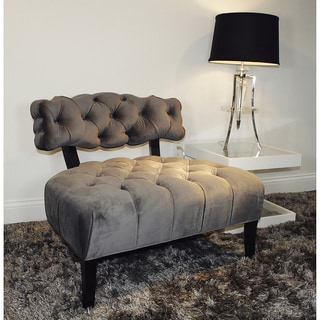 Decenni Custom Furniture 'Regio' Grey Velvet Regency Hollywood Accent Chair