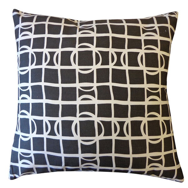 Black and White Planet Throw Pillow