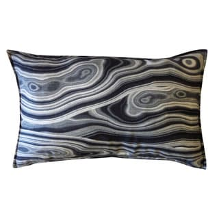 Black Cortesa Throw Pillow