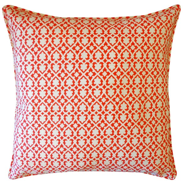 Jiti Red Spade 20-inch Throw Pillow