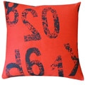 20 x 20-inch Red Ready Throw Pillow