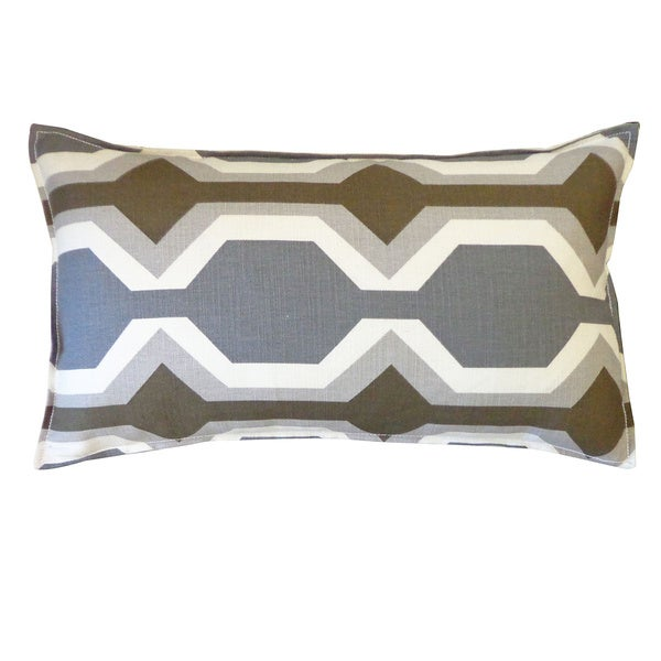 Grey and Brown Freeway Throw Pillow