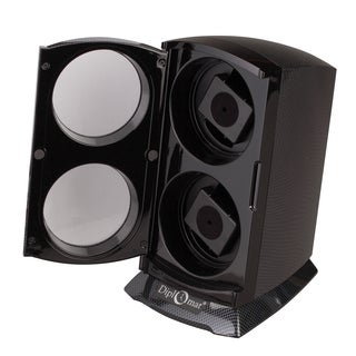 Diplomat Carbon Fiber Pattern Dual Automatic Watch Winder