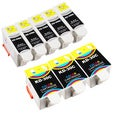 Sophia Global Compatible Black and Color Ink Cartridge Replacements for Kodak (Pack of 8)