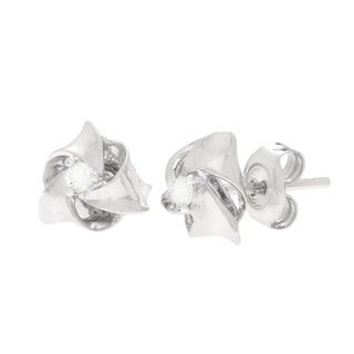 Diamonds For A Cure 14k White Gold 1/10ct TDW Knot Stud Earrings (H-I, SI1-SI2)