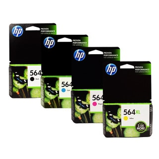 HP 564XL Black Cyan Magenta Yellow Ink Cartridges (Pack of 4)