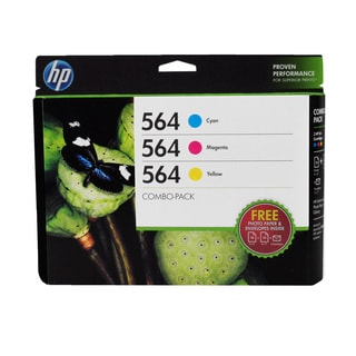 HP 564 Cyan Magenta Yellow Ink Cartridges (Pack of 3)
