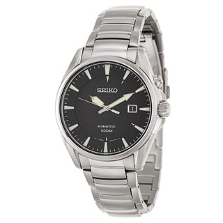 Seiko Men's 'Kinetic' Stainless Steel Power Reserve Watch