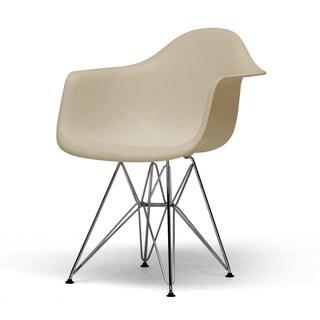 Dario Plastic Mid-Century Modern Shell Chairs (Set of 2)