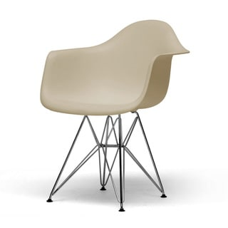 Dario Plastic Mid-Century Modern Shell Chairs (Set of 2)