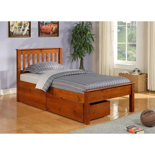 Twin Contempo Bed/ Dual Underbed Drawers