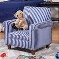 Juvenile Blue Striped Club Chair