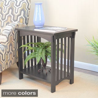'Bradley' Mission Wood Accent Table