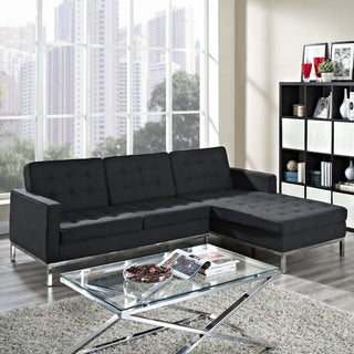 Dark Grey Wool Right-arm Corner Sectional Sofa
