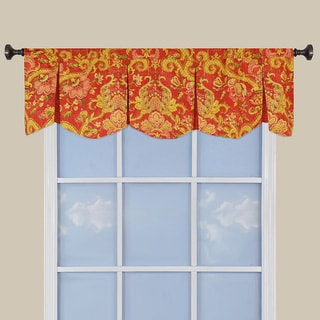 Waverly Cotton 18-inch Archival Urn Pleated Window Valance