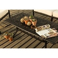 La Mariposa Black Aluminum Coffee Table