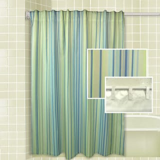 Rhythm Stripe Shower Curtain Set