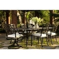 Black and Canvas All Welded Cast Aluminum 7-piece Outdoor Dining Set