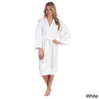 Portico Interlock Organic Cotton Spa Bath Robe (One size)