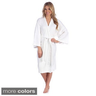 Portico Interlock Organic Cotton Spa Robe (One size)