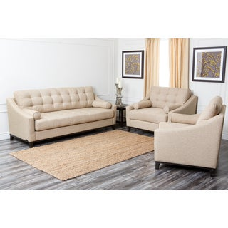 Abbyson Living Alexandria 3-piece Fabric Sofa Set