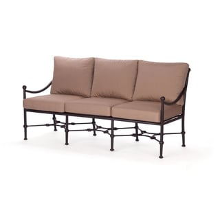 Origin Bronze Cast Aluminum Sofa with Sunbrella Cushions