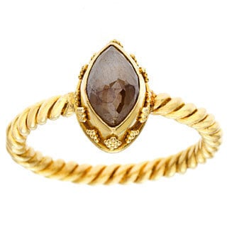 Neda Behnam DFAC 22k Yellow Gold Cognac Rough Diamond Ring