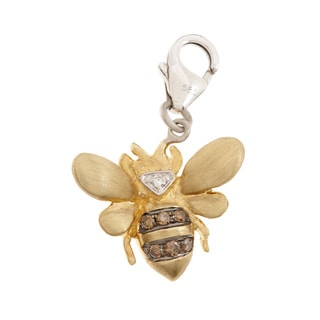 Neda Behnam DFAC 14k Yellow Gold Diamond Bumble Bee Charm (H-I, SI1-SI2)