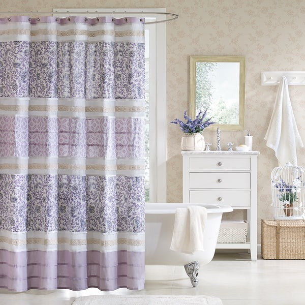 Madison Park Ruby Cotton Shower Curtain