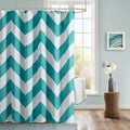 Mizone Aries Chevron Microfiber Shower Curtain