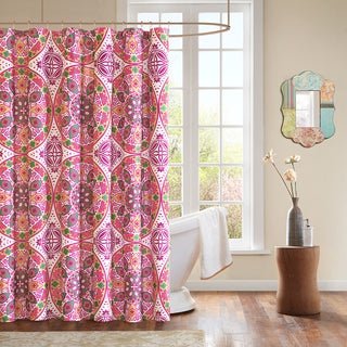 Mizone Larissa Shower Curtain with Hooks