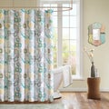 Mizone Lucia Contemporary Microfiber Shower Curtain