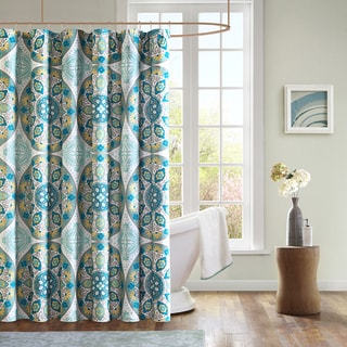 Mizone Tripolis Microfiber Shower Curtain