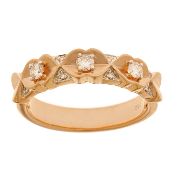 Diamonds For A Cure 14k Rose Gold 1/4ct TDW Matte Band (H-I, SI1-SI2)