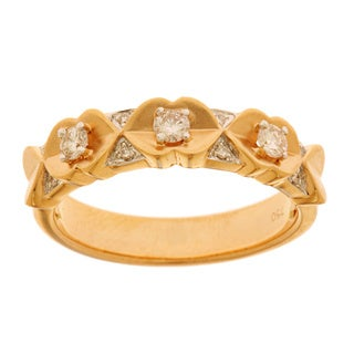 Neda Behnam DFAC 14k Rose Gold 1/4ct TDW Matte Finish Diamond Band (H-I, SI1-SI2)