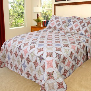 Lavish Home Charlotte 3-piece Quilt Set