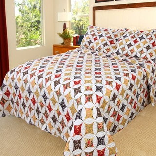 Lavish Home Cassandra 3-piece Quilt Set