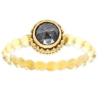 Neda Behnam DFAC 22k Yellow Gold Black Rough Diamond Ring