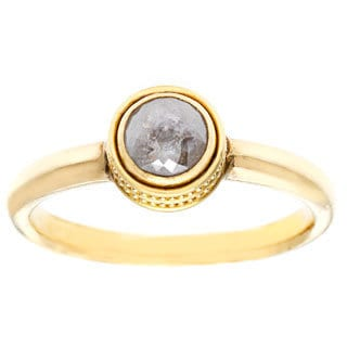 Diamonds for a Cure 22k Gold 4/5 Ct TDW Grey Rough Diamond Center Ring