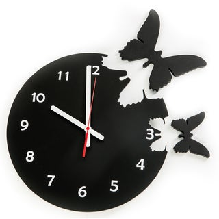 14-inch Wooden Butterfly Clock